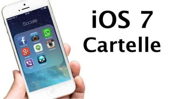 Guida come inserire una cartella all'interno di un'altra cartella con iOS 7
