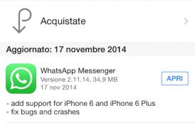 WhatsApp ora compatibile con iPhone 6 e 6 Plus