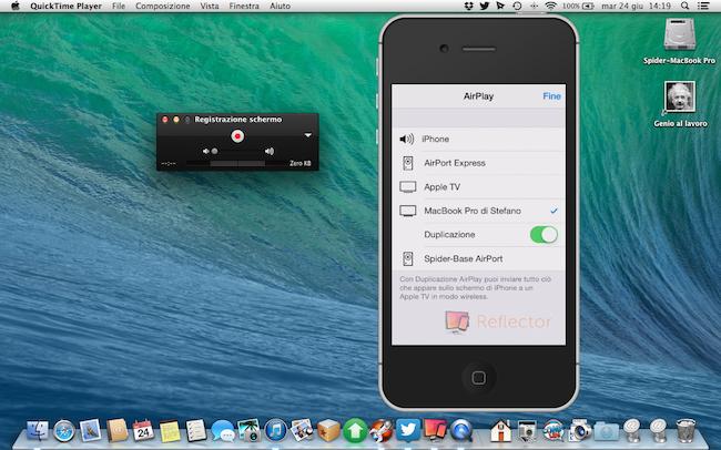 [TUTORIAL] Registrare la schermata dell'iPhone, iPad e iPod da OS X Yosemite senza programmi esterni
