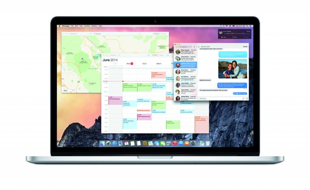 Apple rinnova il look con OS X 10.10 Yosemite