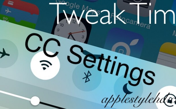 "[TWEAK TIME #5] CC Settings, un tweak per personalizzare al massimo il ""centro di controllo"" del vostro iDevice ( Cydia )"