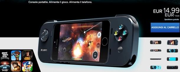 [OFFERTA DEL GIORNO] PowerShell controller di Logitech per iPhone 5 e 5s da oggi in offerta a soli 14,99 Euro.
