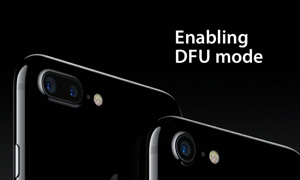 [GUIDA]DFU mode di iPhone 7 e iPhone 7 Plus