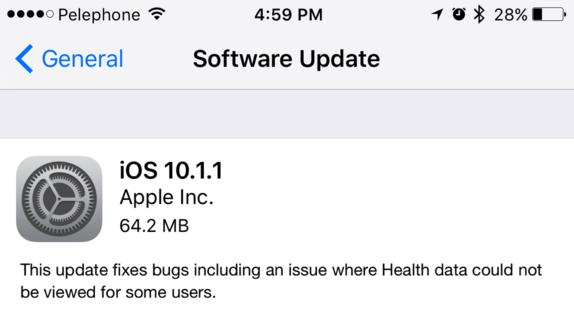 Apple rilascia iOS 10.1.1