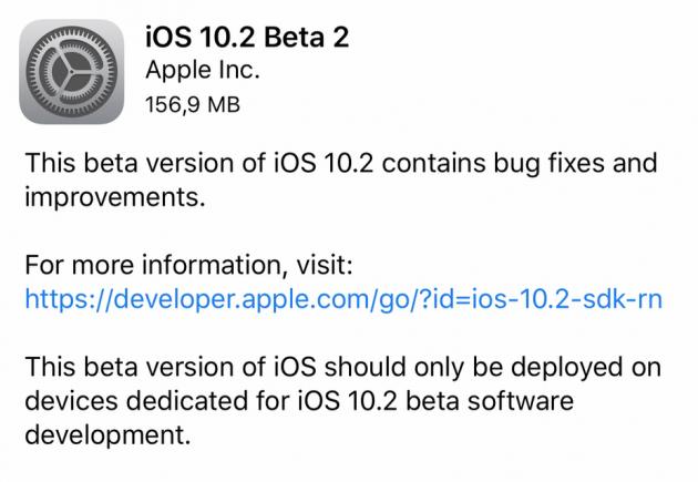 [AGGIORNAMENTO] iOS 10.2 Beta 2: Tutte le novità introdotte: