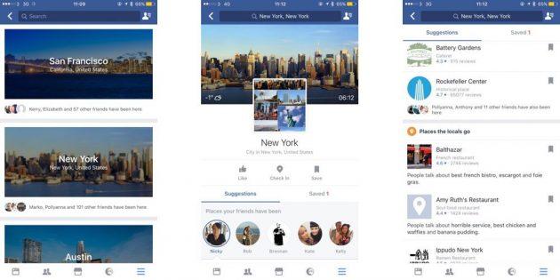 Su Facebook arriveranno le guide delle città che visiti