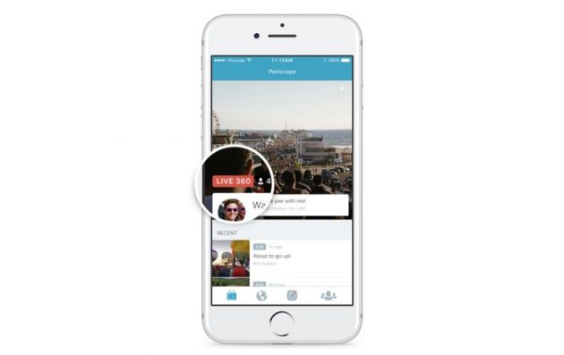 Periscope, i video live a 360º sono disponibili per tutti